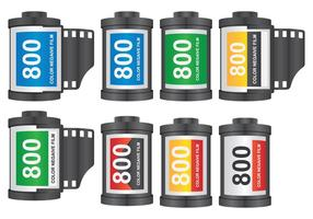 Rolo de filme da câmera vetor