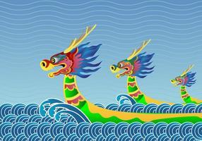 Fundo do Festival do Barco do Dragão vetor
