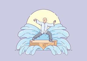 Livre de Ilustração Tai Chi vetor