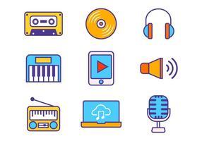 Vetor de ícones de música grátis