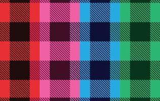 Vetores de flanela coloridos