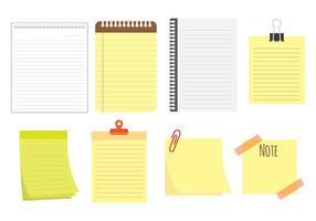 Ícones bloco de notas