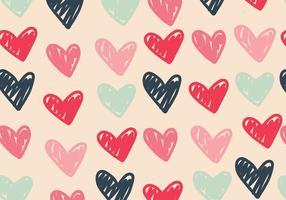 Patrón de corazones vetor