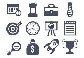 Free Vector ícones do negócio