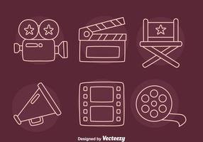 Vector Elemento Film Linha Icons