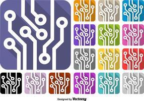 Conjunto de ícones tecnológicos - Vector