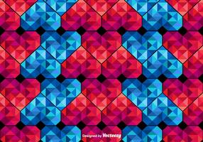 Vector poligonal Corações Padrão