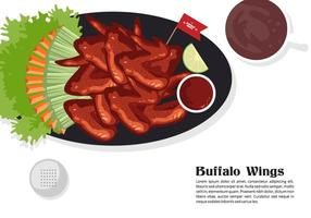 Background Buffalo Wings Vector