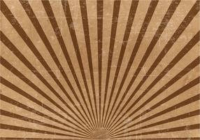 Fundo Castanho Grunge Sunburst vetor