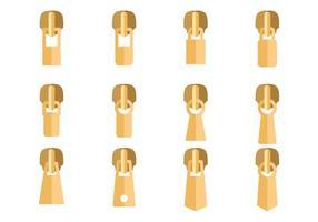 Ouro Zipper Vector Pull