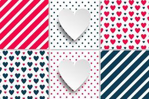 Patterns Vector sem emenda do amor