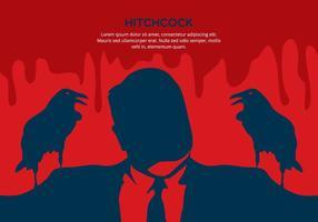 Fundo vermelho Hitchcock vetor