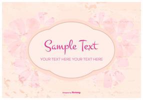 Modelo de texto Grunge floral vetor