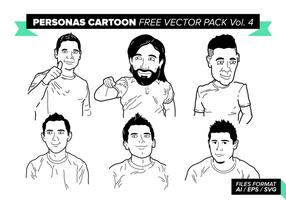 Personas dos desenhos animados Vector Pack Vol gratuito. 4
