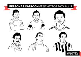 Personas dos desenhos animados Vector Pack Vol gratuito. 5