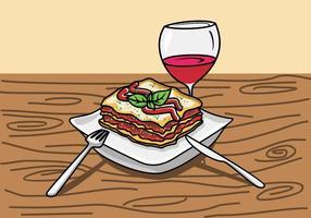 Ilustração De Lasagna vetor