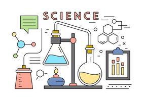 Livre Ciência Elements Vector