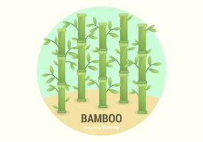 Livre Ilustração de bambu do vetor