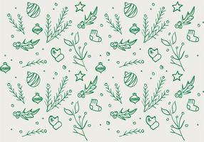 Free Hand Natal fundo desenhado Padrão vetor