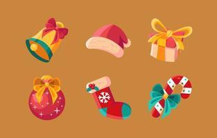 detalhe pacote de ícones de itens de natal vetor