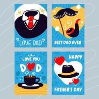 design de cartão de dia dos pais fofo vetor