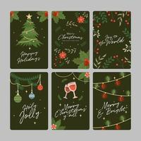 cartão de natal para reunir a família vetor