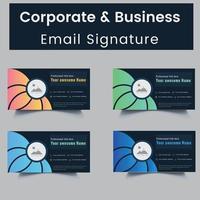 conjunto de modelos de assinatura de e-mail profissional e pessoal
