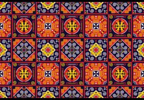 Pattern Vector tradicional Azulejos