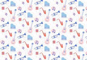 Instrumentos musicais Pattern vetor