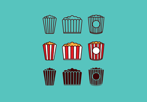 Free Vector Popcorn Box