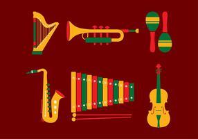 Música Set Vector grátis