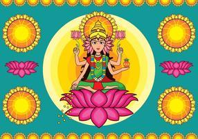 Vector Colorful Deusa Lakshmi