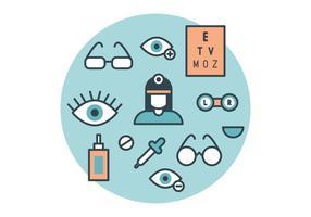 O oftalmologista Vector Pack