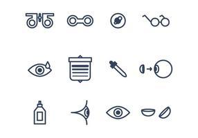 Jogo de ícones do olho vetor