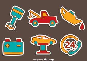 Desenhado mão Vector Car Service