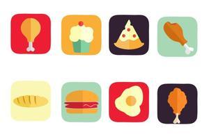 American Free Vector ícones do alimento