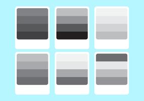 A paleta de cores cinzento do inclinação Vector