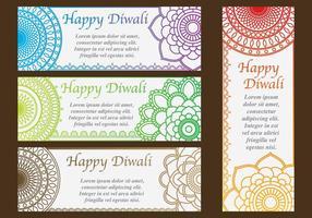Diwali Convites vetor