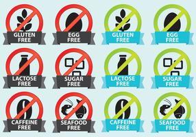 Ingredientes Labels vetor