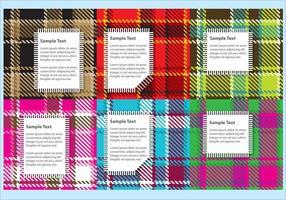 Flanela vetores tecido com Labels