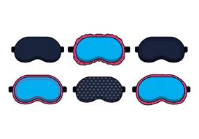 Vetores máscara de dormir azul
