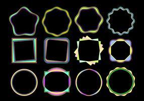 Coloridos funky Quadros Vector grátis