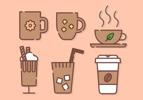Vetor bonito do café
