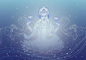 Deusa Lakshmi da riqueza Vector