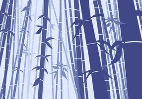 Bambu Cena Plano Estilo vetor