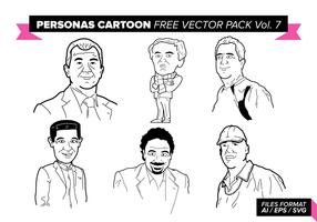 Personas dos desenhos animados Vector Pack Vol gratuito. 7