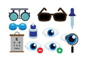 Livre oftalmologista ícones do vetor