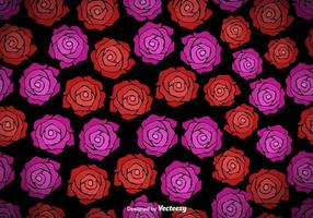 Vector Padrão Com Rosas