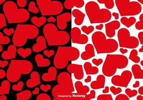 Patterns Vector sem emenda dos corações