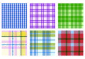 Vector flanela Pattern Pacote